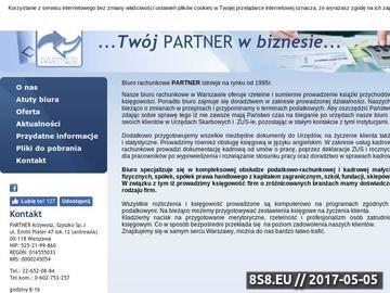 Zrzut strony PARTNER Biuro Rachunkowo - biuro rachunkowe Warszawa, księgowość Warszawa