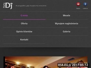 Zrzut strony Party DJ na nowoczesne wesele z klasą - Słupsk, Koszalin, Gdańsk