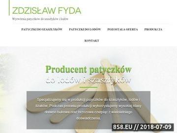 Zrzut strony Patyczki do szaszłyków producent