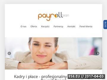 Zrzut strony Payroll Team Łódź obsługa kadr i płac