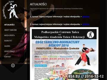 Zrzut strony Podkarpackie Centrum Tańca