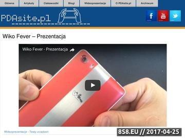 Zrzut strony PDAsite.pl - Idealne miejsce w sieci dla Twojego PDA