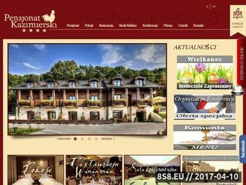 Zrzut strony Hotel Pensjonat Kazimierski w Kazimierzu Dolnym