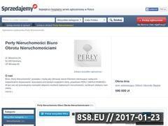 Miniaturka domeny perlynieruchomosci.sprzedajemy.pl