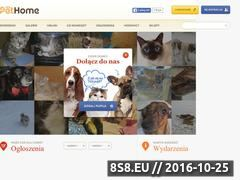 Miniaturka pethome.com (Portal społecznościowy dla miłośników zwierząt - Pethome.com)