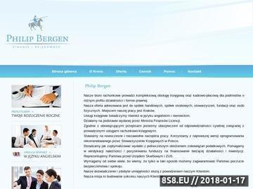 Zrzut strony Biuro rachunkowe Kraków PhilipBergen.pl