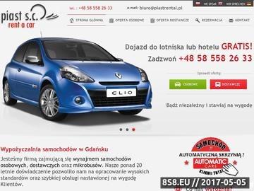 Zrzut strony Wypożyczalnia Samochodów Gdańsk - Lotnisko