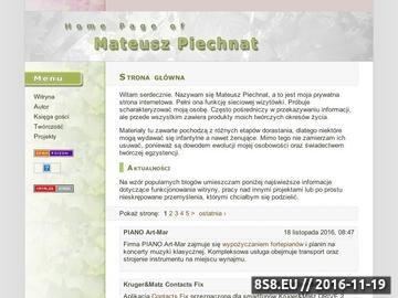 Zrzut strony Mateusz Piechnat - Pianista z Łodzi