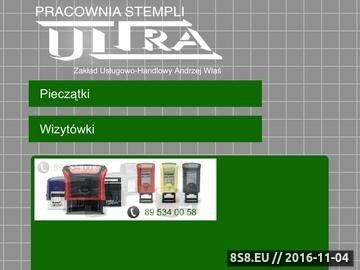 Zrzut strony ULTRA pieczątki