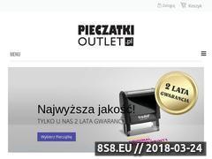 Miniaturka domeny www.pieczatkioutlet.pl
