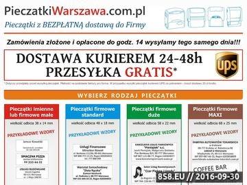 Zrzut strony Pieczątki Warszawa online