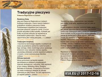 Zrzut strony Piekarnia Regionalna w Liszkach - tradycyjne pieczywo regionalne