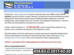Miniaturka pielegniarka-warszawa.pl (Usługi pielęgniarskie w miejscu wezwania)