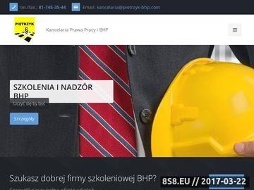 Zrzut strony Szkolenia BHP Lublin