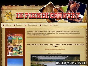 Zrzut strony Piknik Country przy ujściu Baryczy do Odry