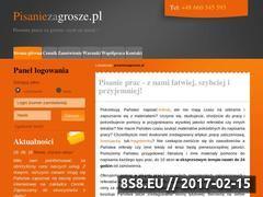 Miniaturka domeny www.pisaniezagrosze.pl