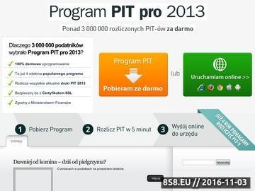 Zrzut strony Program rozliczenie pit 2011