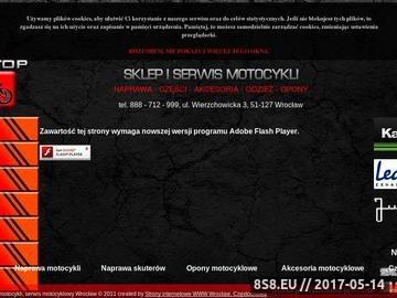Zrzut strony PIT STOP -serwis, części i akcesoria oraz sprzedaż motocykli
