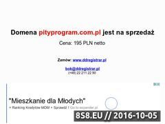 Miniaturka domeny pityprogram.com.pl