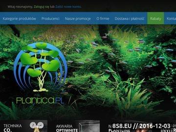 Zrzut strony Sklep akwarystyczny Plantica jest internetowy i stacjonarny