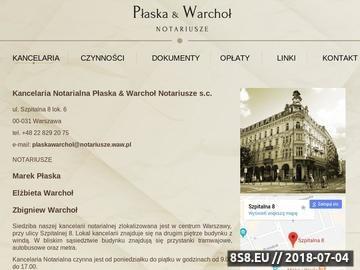 Zrzut strony Notariusz Płaska & Warchoł Warszawa