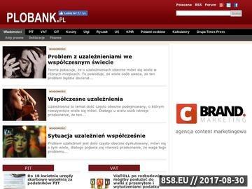 Zrzut strony Najnowsze informacje finansowe