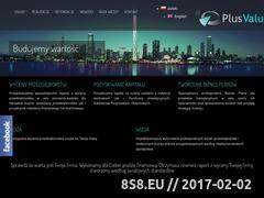 Miniaturka domeny www.plusvalue.pl