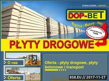 Zrzut strony Płyty Drogowe - Dop-Bet z Olsztyna