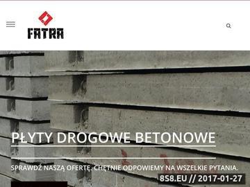 Zrzut strony Prefabrtykaty betonowe, płyty drogowe betonowe