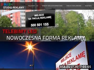 Zrzut strony Agencja Reklamowa Krosno