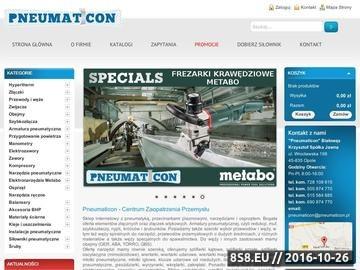 Zrzut strony Sprężarki śrubowe oraz manometry w Pneumaticon z serwisem