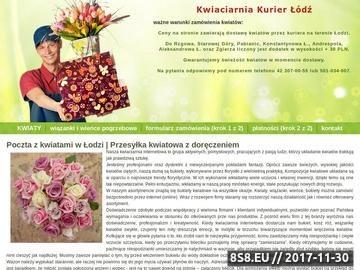 Zrzut strony Poczta kwiatowa w Łodzi - usługi kurierskie