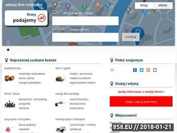 Zrzut strony Katalog firm podajemy.pl