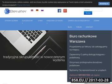 Zrzut strony BERATER Biuro Rachunkowe Warszawa/Piaseczno
