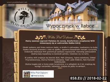 """Zrzut strony Noclegi Rabka-Zdrój - pensjonat """"Willa Pod Dębami"""""""