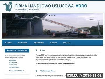 Zrzut strony Podnośnik koszowy Kraków