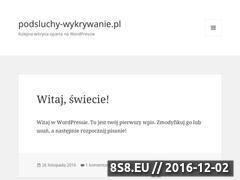 Miniaturka domeny www.podsluchy-wykrywanie.pl