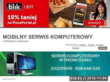 Zrzut strony Mobilny serwis komputerowy w Olsztynie - naprawa komputerów Olsztyn