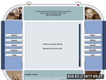 Zrzut strony Włoski tłumaczenia techniczne ustne i pisemne w Katowicach na Górnym Śląsku
