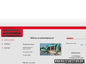 Zrzut strony Poleasingowy.pl - leasing