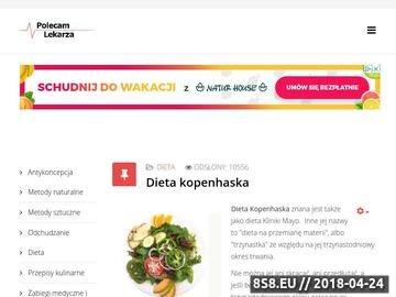 Zrzut strony Polecam Lekarza - Wyszukiwarka i ranking lekarzy oraz serwis medyczny