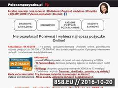 Miniaturka domeny polecampozyczke.pl