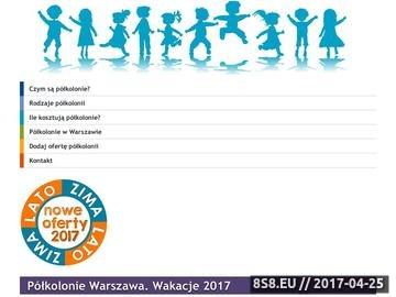 Zrzut strony Półkolonie w Warszawie