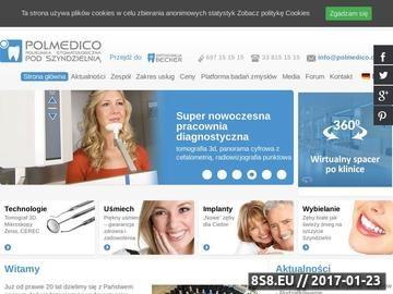 Zrzut strony Klinika Polmedico - implanty Bielsko Biała
