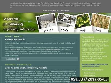 Zrzut strony Północnolubuskie - Wędrówki po północnej części woj. lubuskiego