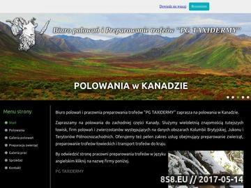 Zrzut strony Biuro polowań organizuje polowania w Kanadzie