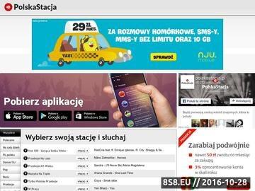 Zrzut strony Radio PolskaStacja.
