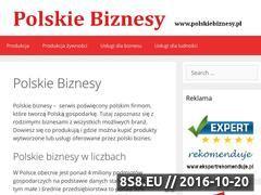 Miniaturka domeny www.polskiebiznesy.pl