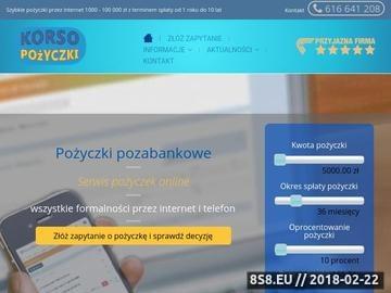 Zrzut strony Korso - pożyczki pozabankowe