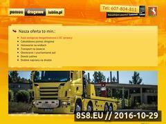 Miniaturka domeny www.pomocdrogowalublin.pl
